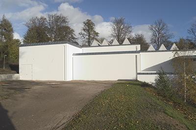 Horsens Kunstmuseum set fra bagsiden