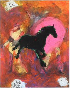 Sort hest. 1986