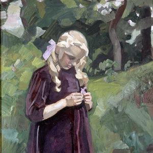 Lille pige i en have, 1920-24