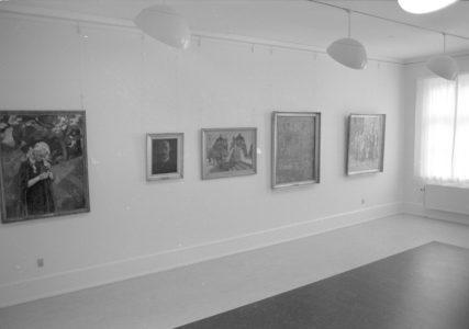 """Billede fra udstillingen """"fra Syberg til Kvium"""""""